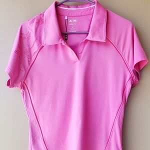 Adidas Pink Floral ClimaCool Golf Polo NWOT